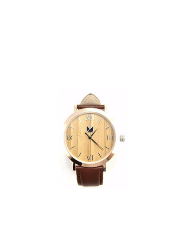 Bamboo watches-Bamboo Watch Metal Gold Women/Men by Ethical & Sustainable Fashion Brand Mamahuhu