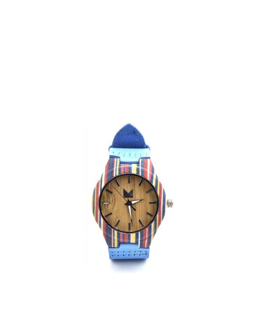 Bamboo watches-Bamboo Watch Blue Women by Ethical & Sustainable Fashion Brand Mamahuhu