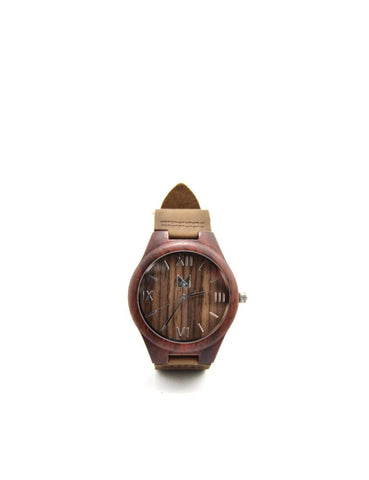Bamboo watches-Bamboo Watch Red Men by Ethical & Sustainable Fashion Brand Mamahuhu