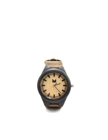 Bamboo watches-Bamboo Watch Black Men by Ethical & Sustainable Fashion Brand Mamahuhu