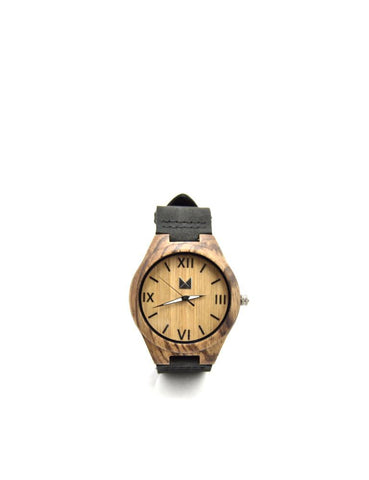 Bamboo watches-Bamboo Watch Zebra Men by Ethical & Sustainable Fashion Brand Mamahuhu
