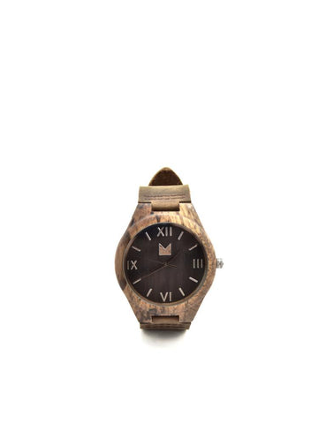 Bamboo watches-Bamboo Watch Dark Wood Men by Ethical & Sustainable Fashion Brand Mamahuhu