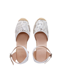 Espadrilles Women-Espadrilles White with Silver Sequins by Ethical & Sustainable Fashion Brand Mamahuhu