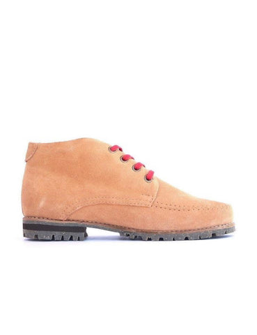 Leather ankle boots-Colorines Vanilla by Ethical & Sustainable Fashion Brand Mamahuhu