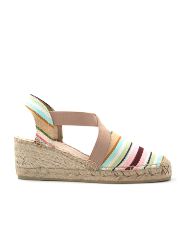Espadrilles Wedge Creamy Rainbow