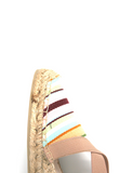 Espadrilles Women-Espadrilles Wedge Creamy Rainbow by Ethical & Sustainable Fashion Brand Mamahuhu