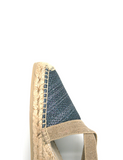 Espadrilles Women-Espadrilles Wedge Shimmer Charcoal by Ethical & Sustainable Fashion Brand Mamahuhu