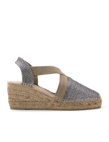 Espadrilles Wedge Shimmer Metallic