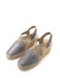 Espadrilles Women-Espadrilles Wedge Shimmer Metallic by Ethical & Sustainable Fashion Brand Mamahuhu
