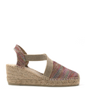 Espadrilles Women-Espadrilles Wedge Shimmer Rosé by Ethical & Sustainable Fashion Brand Mamahuhu
