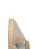 Espadrilles Women-Espadrilles Wedge Shimmer Champagne by Ethical & Sustainable Fashion Brand Mamahuhu