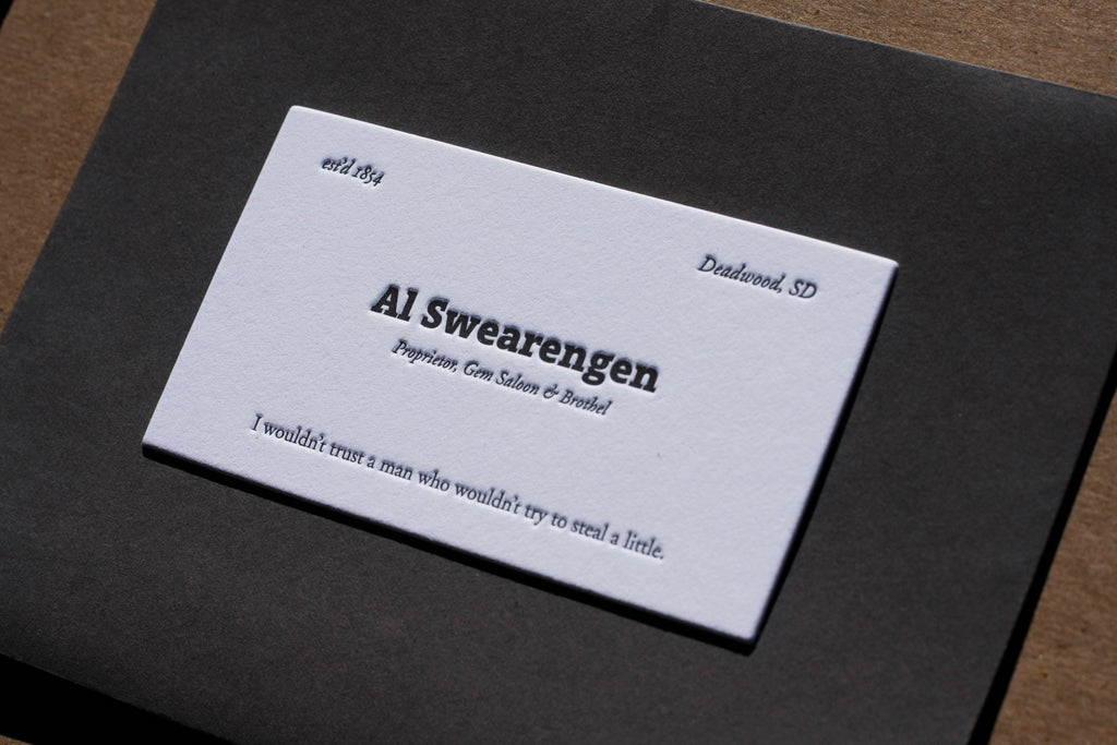Letterpress Calling Cards — Custom Printed Business Cards