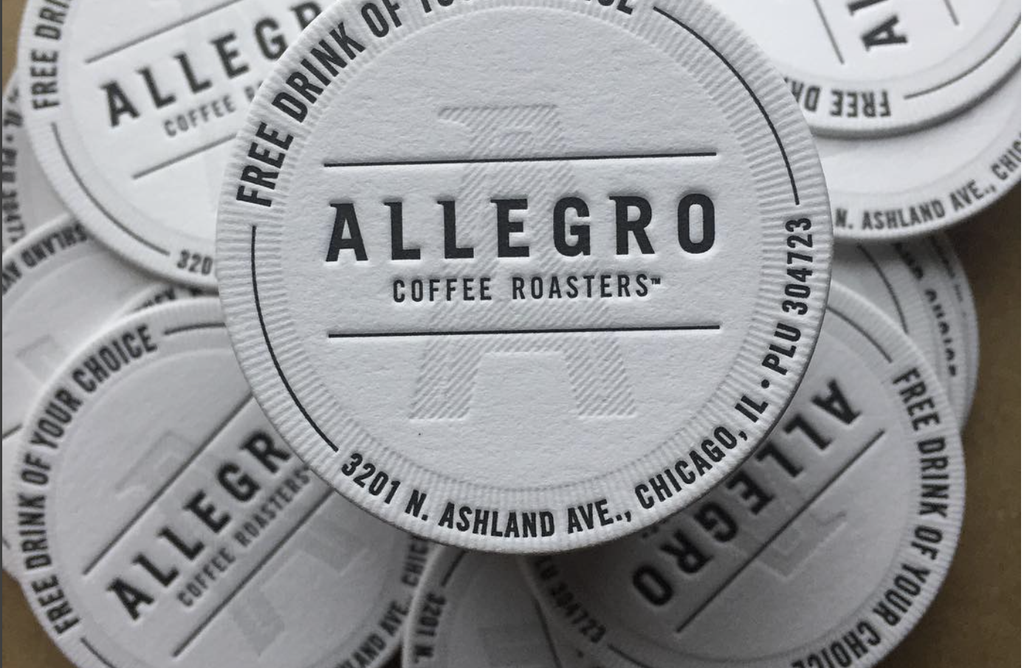 Letterpress Drink Tokens