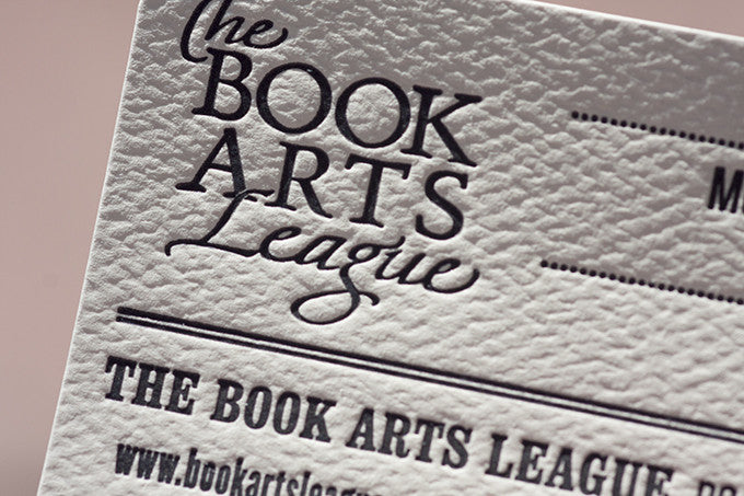Letterpress Printed Membership Cards