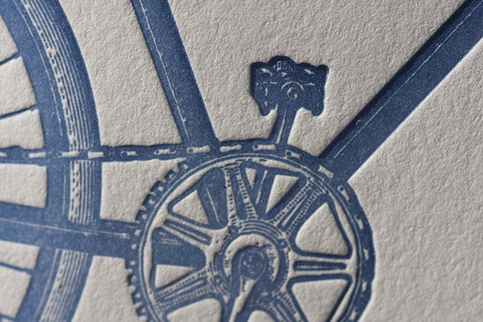 Letterpress Bike Card