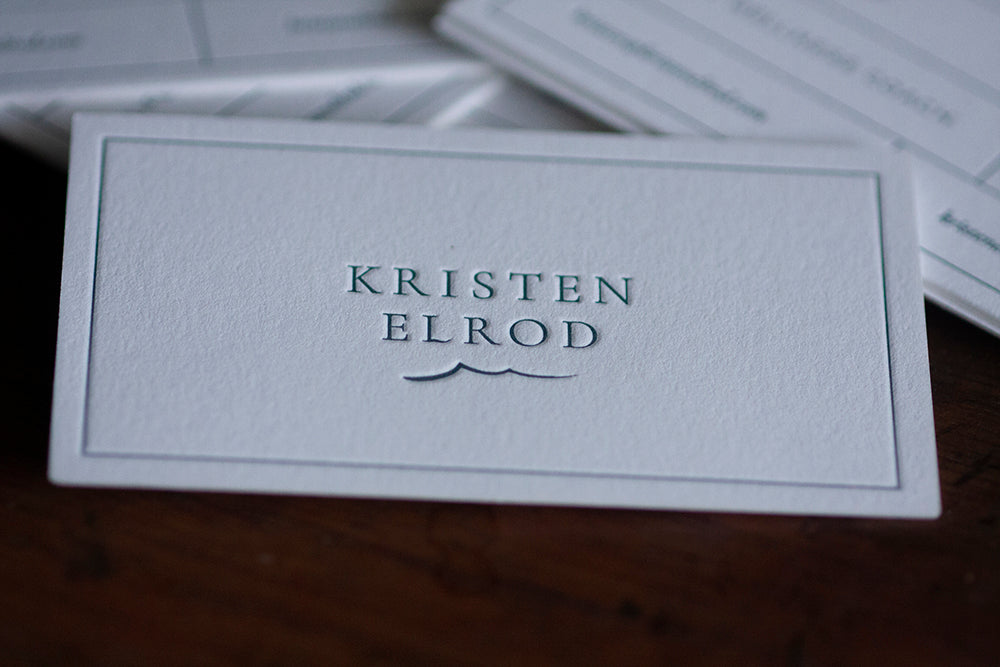 Letterpress Business Cards for a Life & Wellness Coach