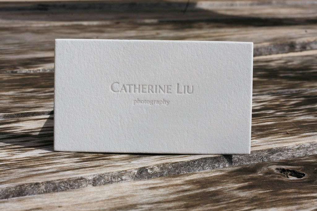Letterpress Business Cards for a Photographer