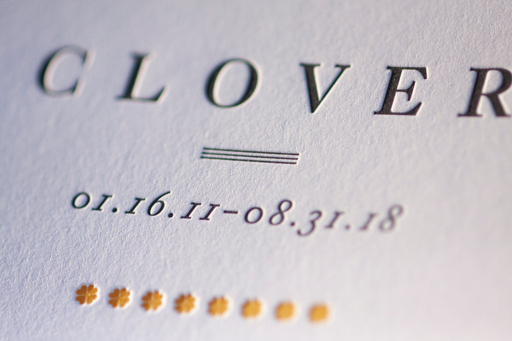 A sentimental letterpress piece