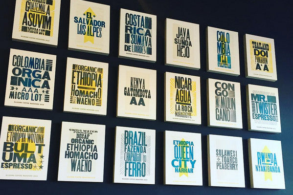 Letterpress Posters for Allegro Coffee Roasters