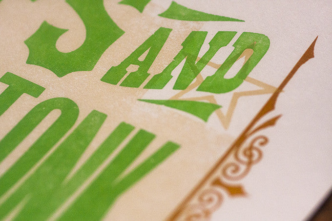 Letterpress Printed Poster for a Music Festival