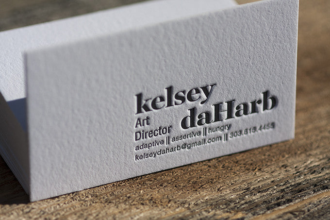 Letterpress Business Cards for an Art Director