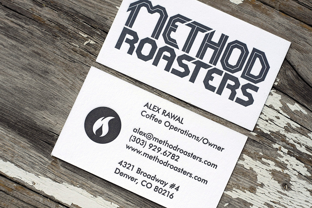 Letterpress Business Cards for a Denver Coffee Roasters