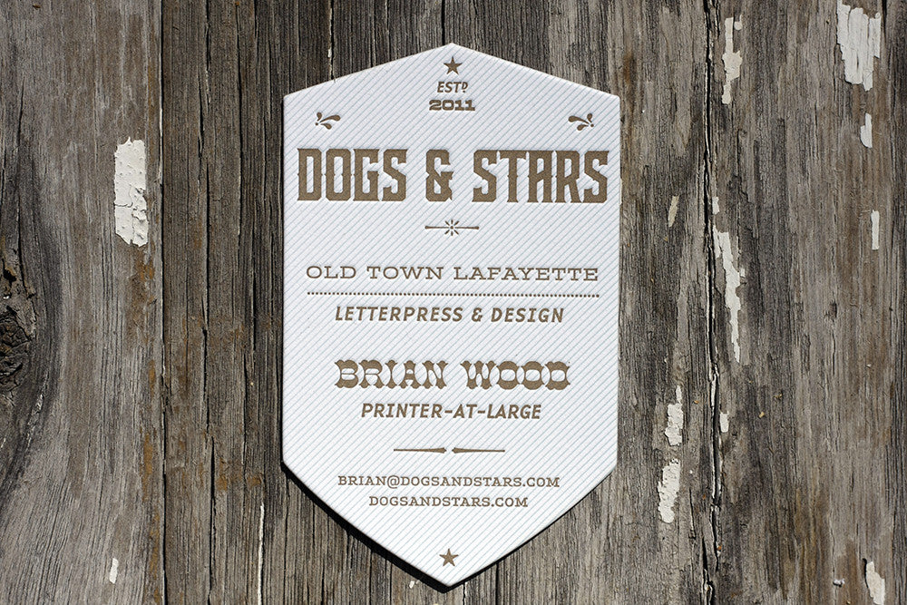 Letterpress Business Cards for Dogs & Stars
