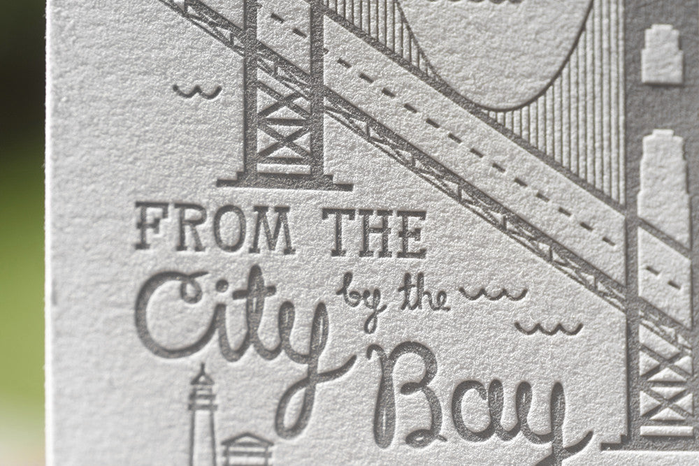 Custom Printed Letterpress Holiday Cards