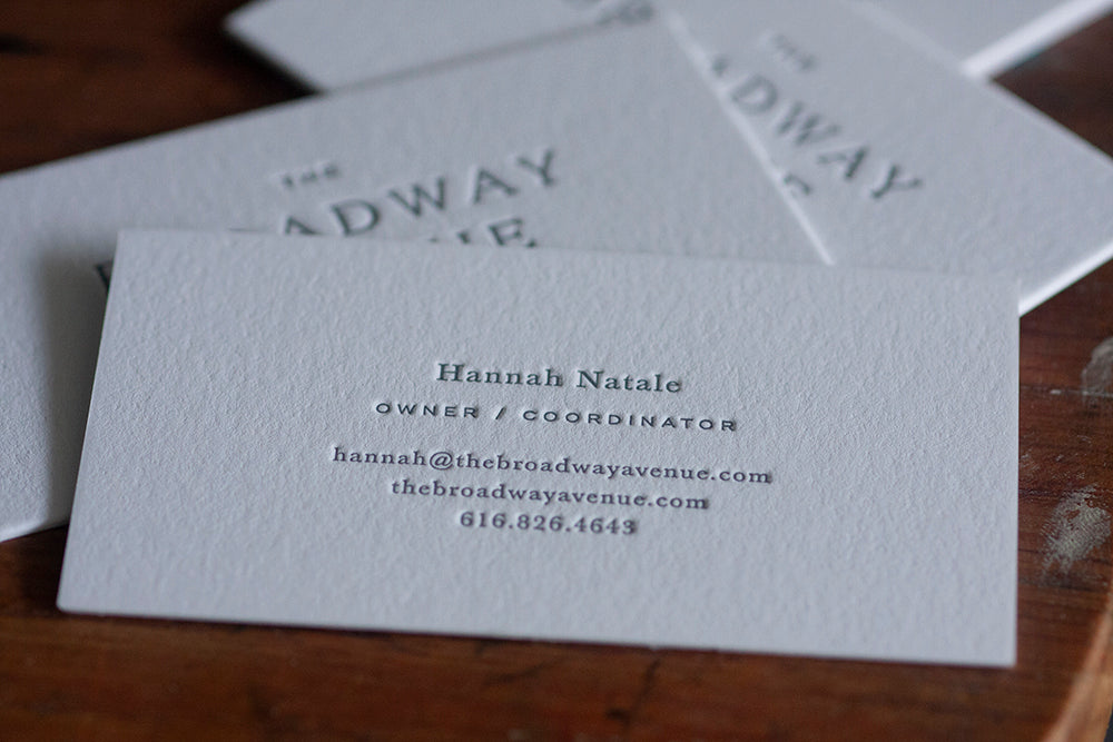 Letterpress Business Cards — Event & Wedding Planner
