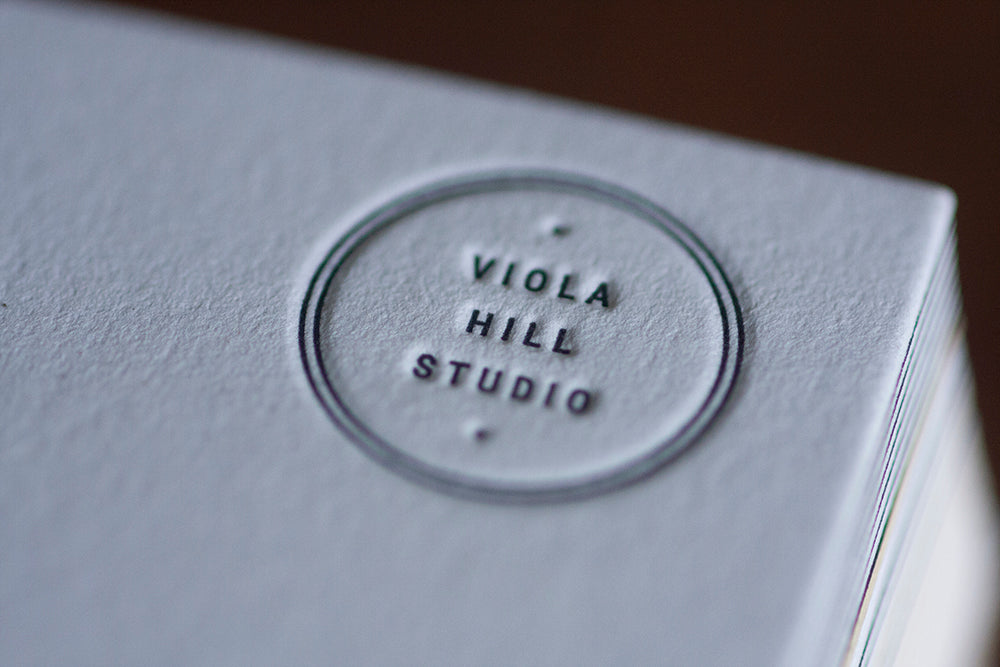 Duplexed Business Cards for Viola Hill Studios