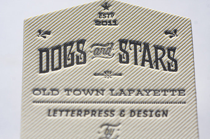 Letterpress Die Cut Business Cards