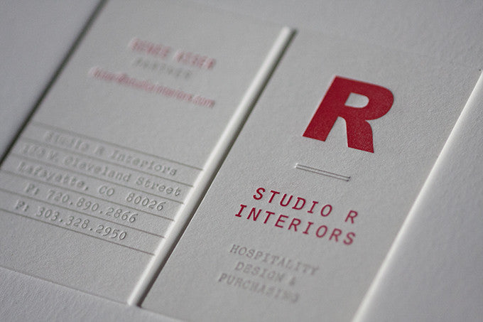 Interior Design Letterpress Business Cards