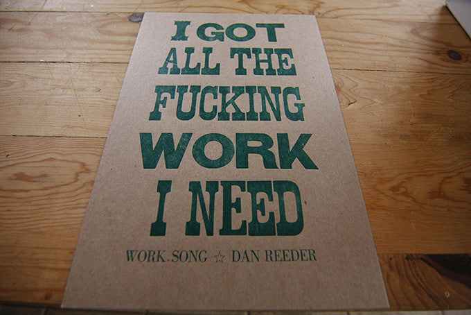Letterpress Wood Type Poster