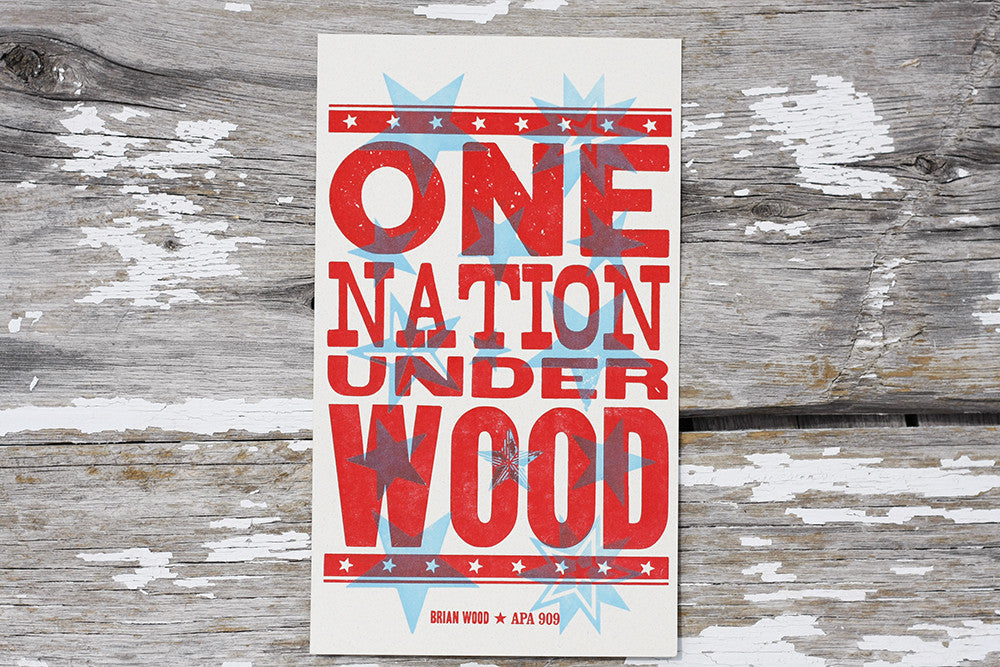 Letterpress Printing Wood type APA Boulder Denver Colorado