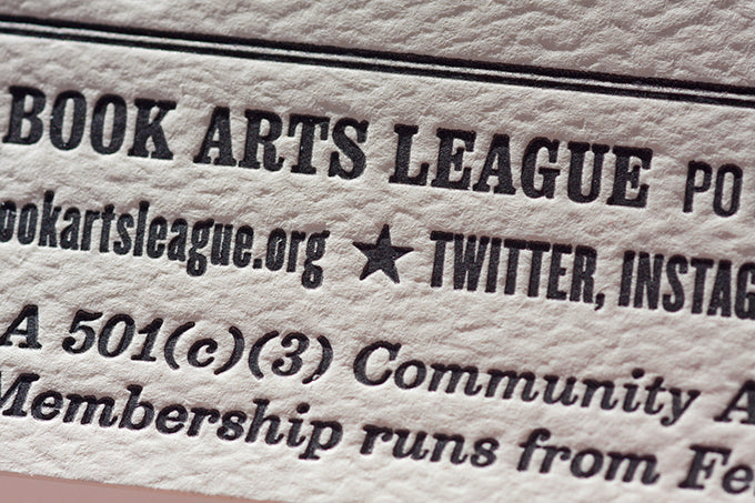 Letterpress Printed Business Cards Size Membership Cards