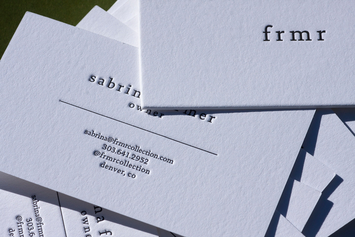boulder denver longmont lafayette letterpress business cards printing letter press
