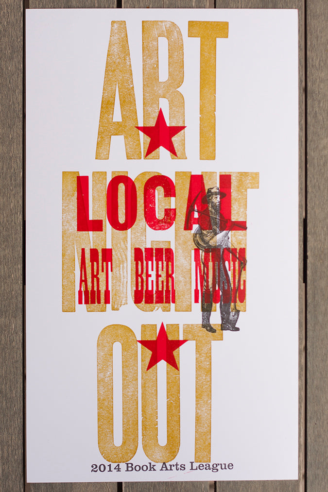 Letterpress Poster Hand Made Hand Crafted Wood Type Lafayette Colorado