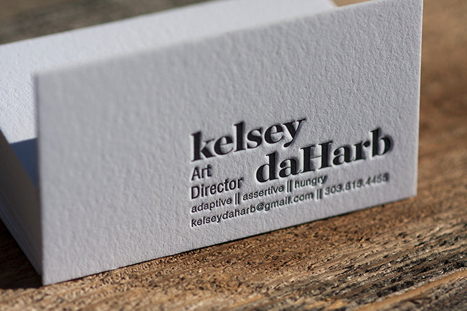 Letterpress Business Cards by Dogs & Stars in Lafayette Colorado Custom Design Printing and Workshops