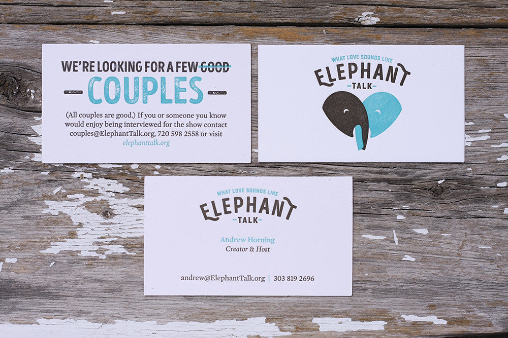 Custom Letterpress printing stationery business cards correspondence Denver Boulder Colorado