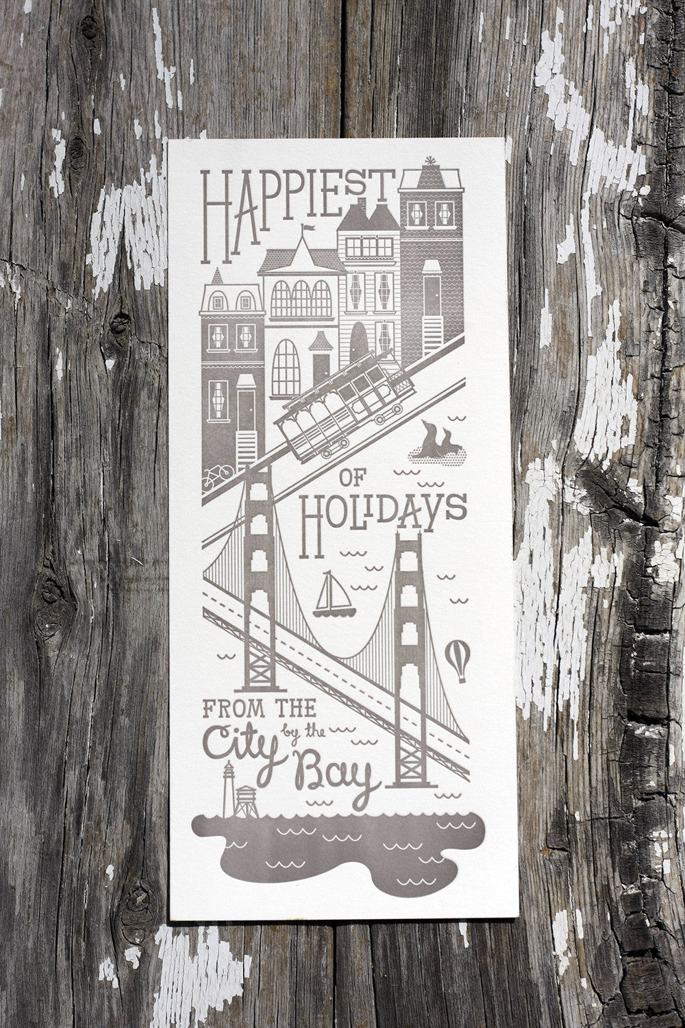 Letterpress Holiday Christmas New Years Card Custom Printing Boulder Denver Colorado