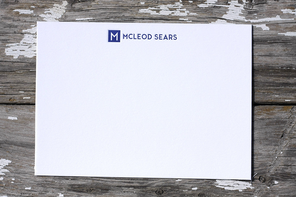 Corporate Letterpress Stationery