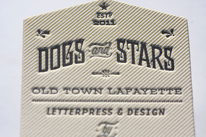 Letterpress business cards custom design die cutting promotion letterpress hand made hand crafted
