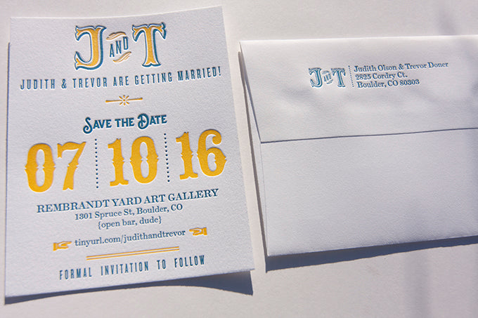letterpress wedding invitation invites save the dates save the date colorado outdoor weddings wedding planners
