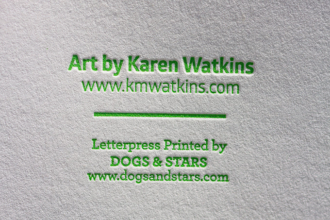 karen watkins art salida colorado letterpress collaboration dogs & stars