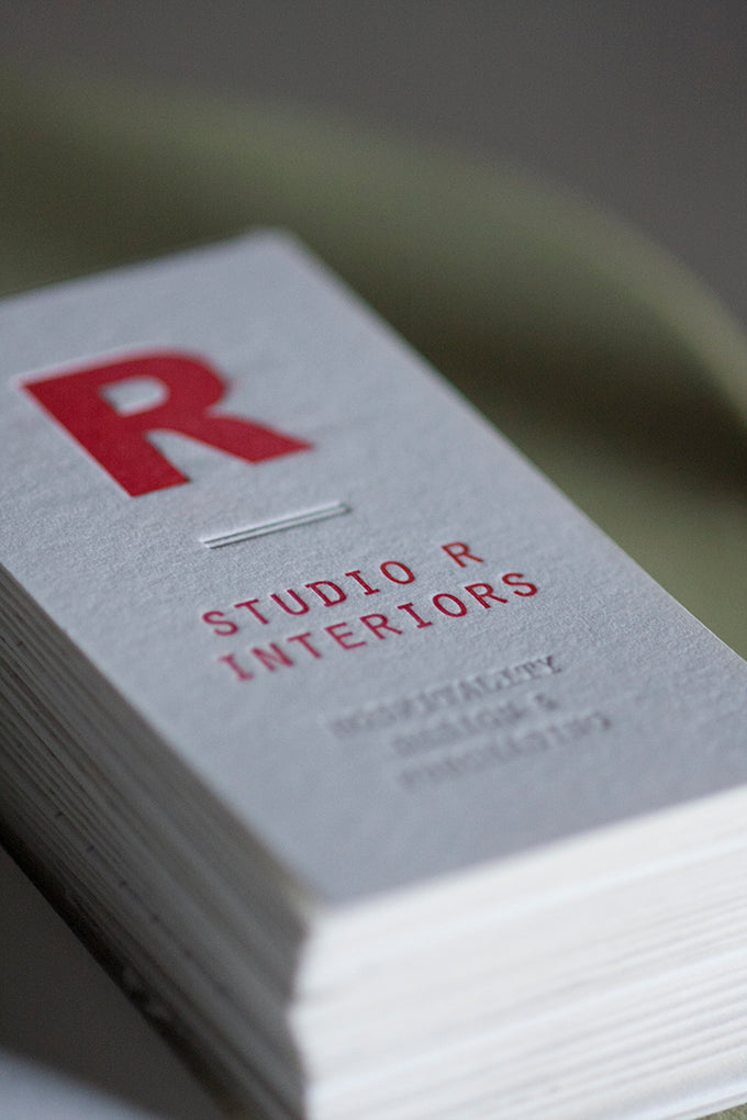 Interior Design Letterpress Business Cards – Dogs & Stars