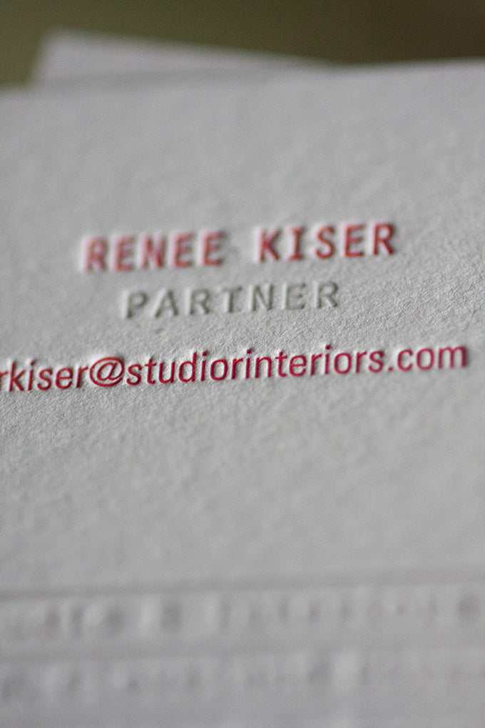 letterpress business cards crane lettra 220lb boulder denver lafayette colorado interior design