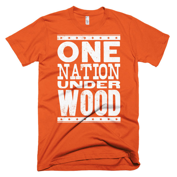 Men's Letterpress T-Shirt: One Nation Under Wood