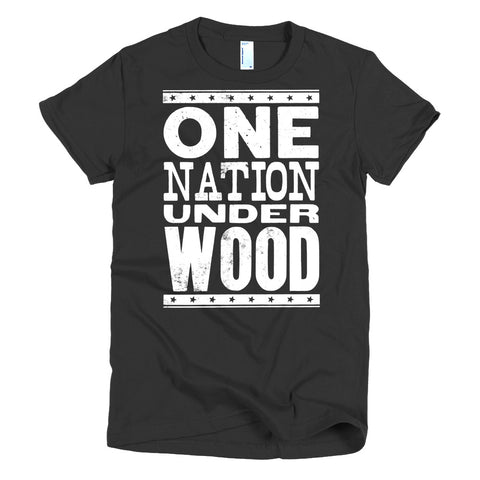 Women's Letterpress T-Shirt: One Nation Under Wood