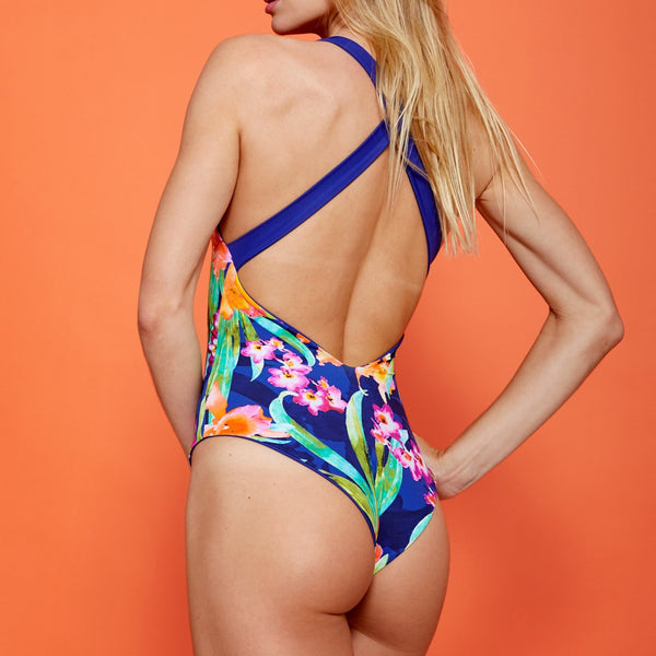 ORQUIDEA EXÓTICA Reversible Swimsuit