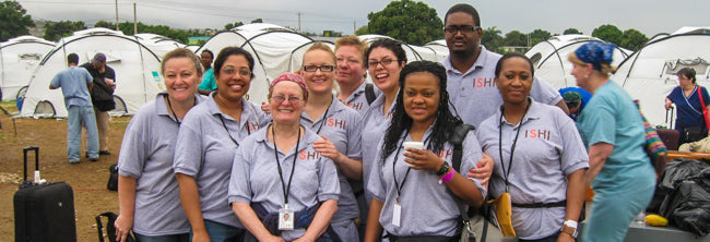 ISHI Team in Haiti right after the devastating 2010 earthquake